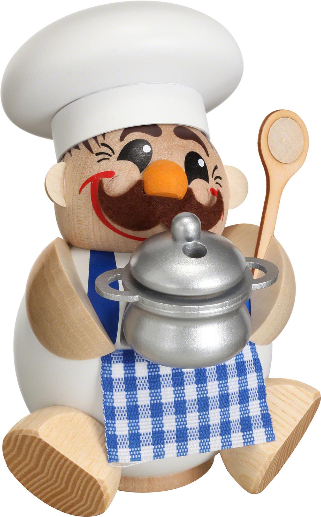 R ucherm nnchen koch kugelr ucherfigur 12 cm von for Koch von bonanza