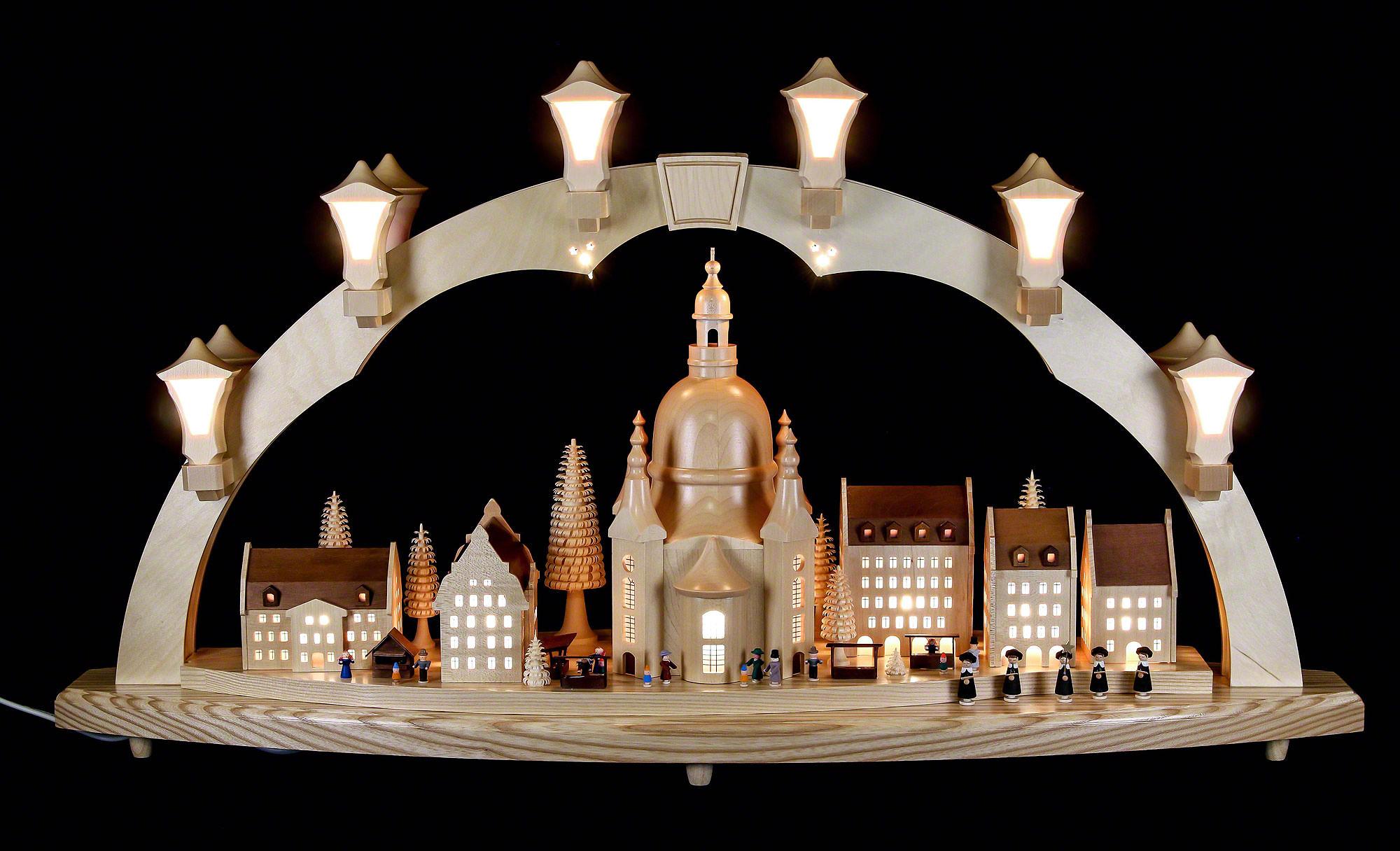 Schwibbogen Frauenkirche Mit Strietzelmarkt 80 43 Cm Von Richard