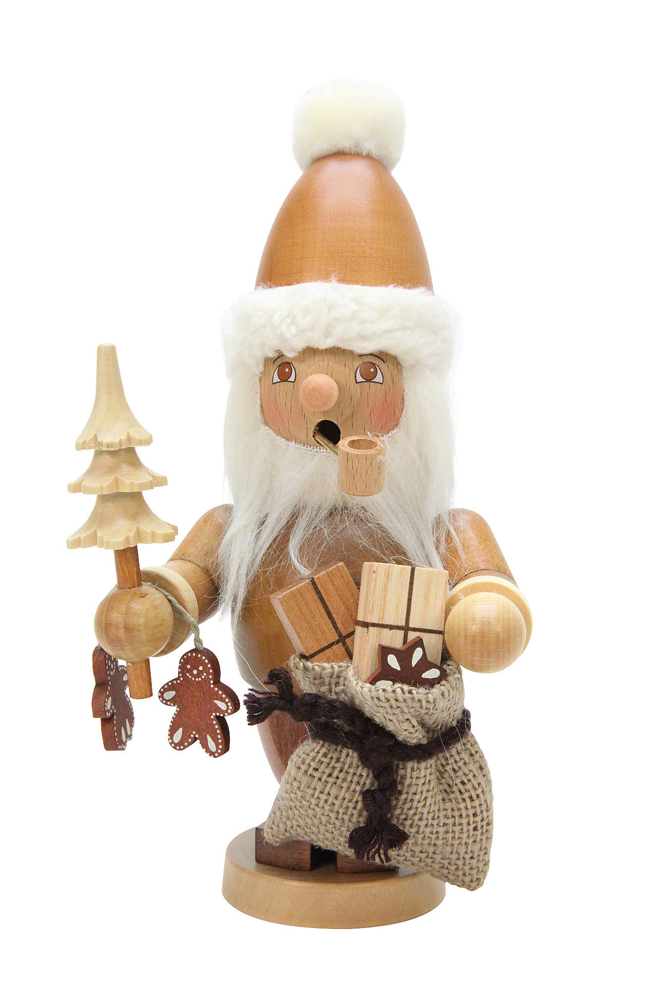 Smoker Santa Claus Natural Colors 21 Cm8in By Christian Ulbricht