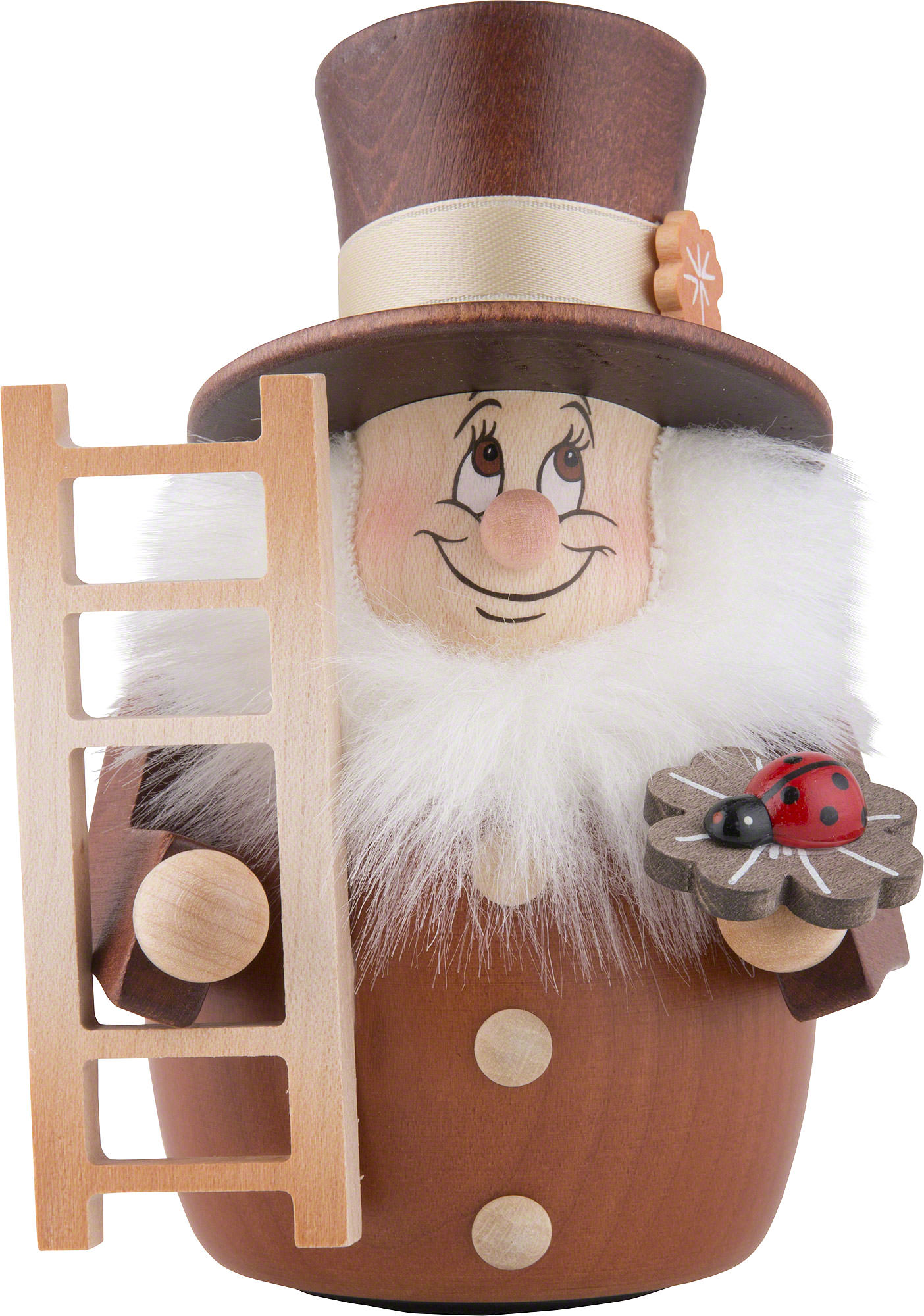 Gnome 4: Teeter Gnome Chimney Sweep Natural (12 Cm/4.7in) By