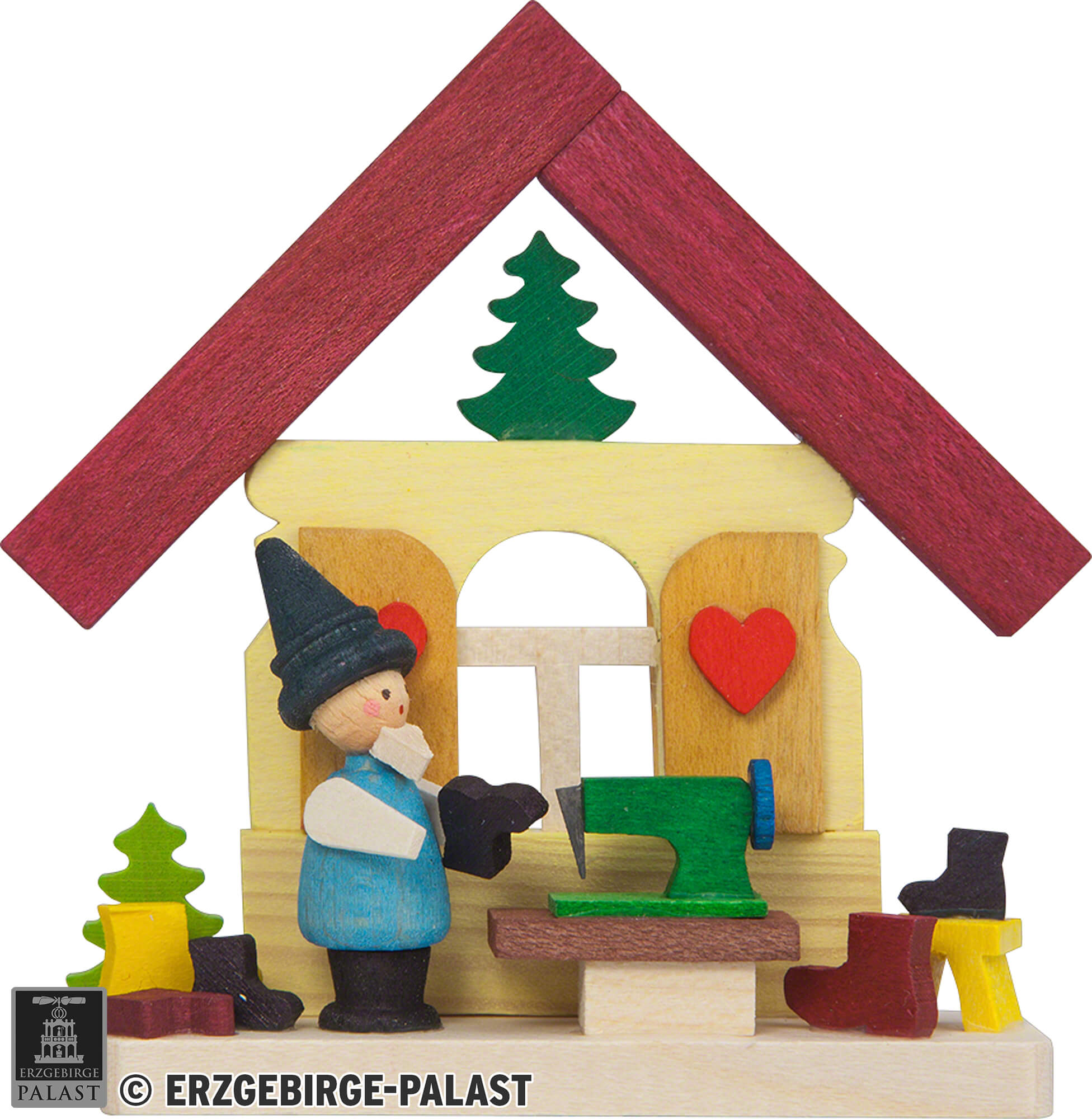 Tree Ornament House Dwarf with Sewing Machine 74 cm 29 inch 1588771483 4260645844414 101 41 810 41810