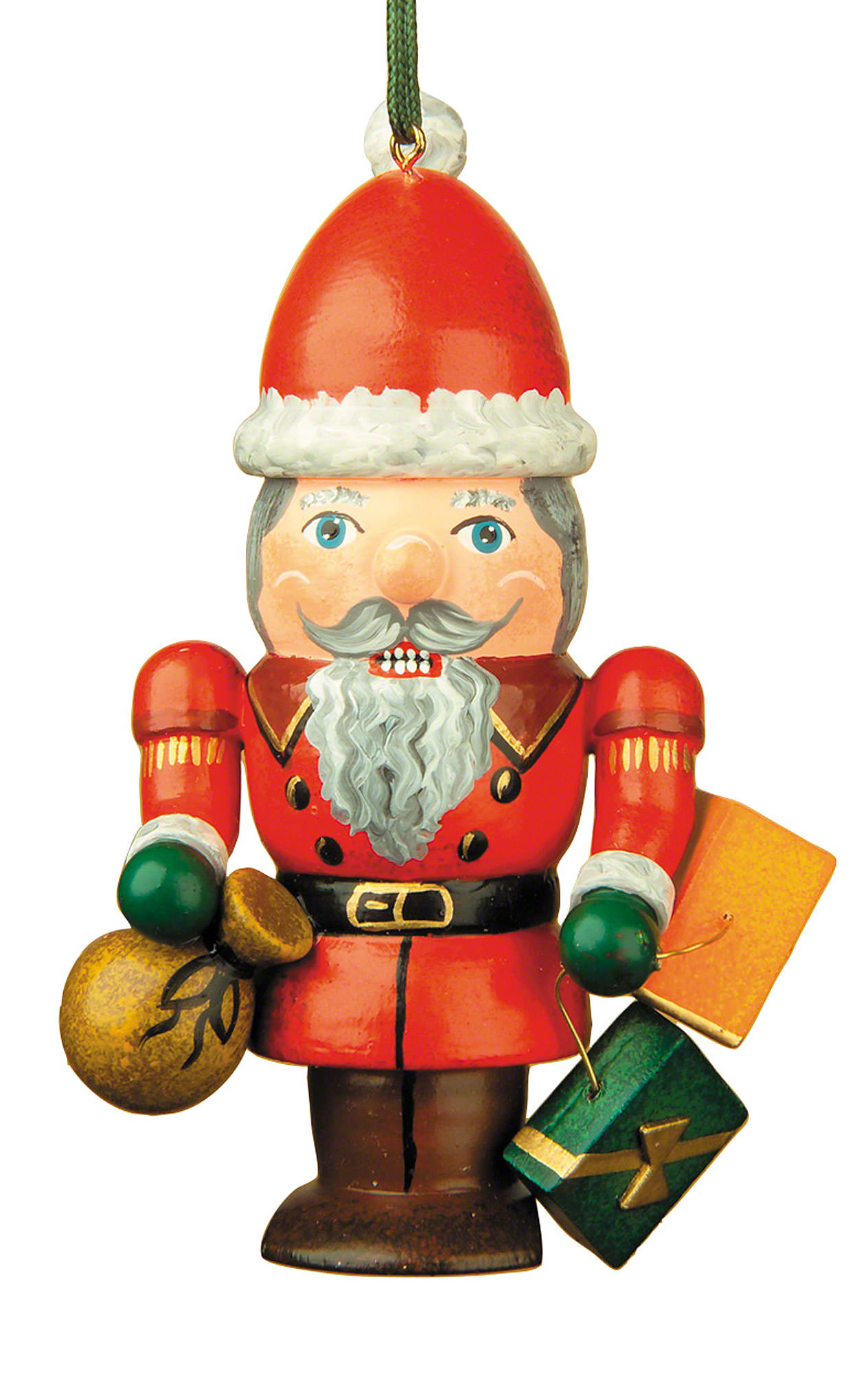Tree Ornament - Nutcracker Santa (7 cm/3in) by Hubrig Volkskunst
