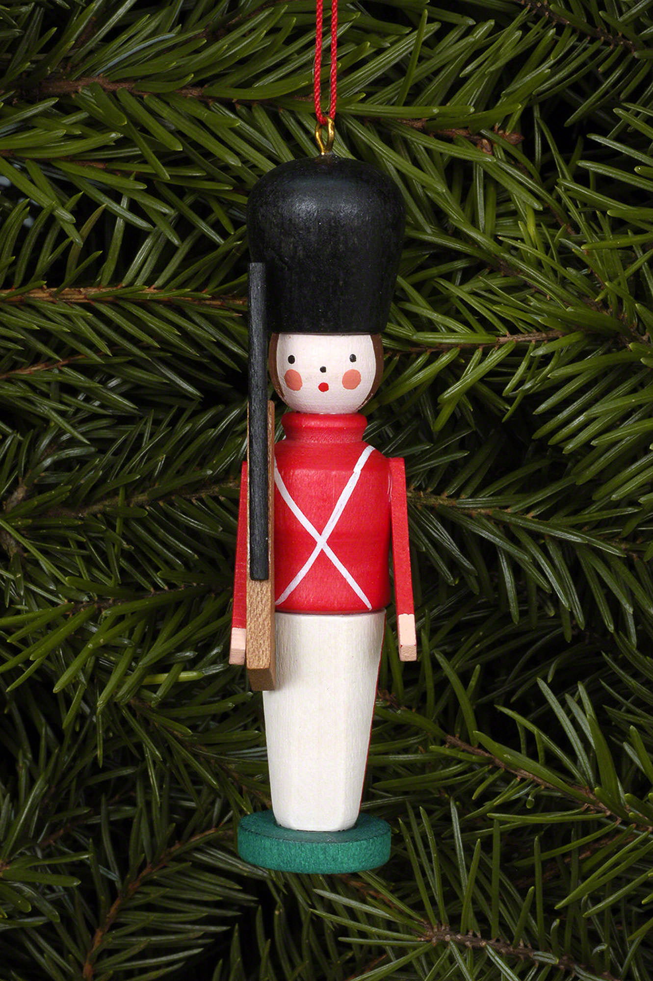 tree ornament toy soldier 2485 cm13in by christian ulbricht - Christmas Soldier Decorations