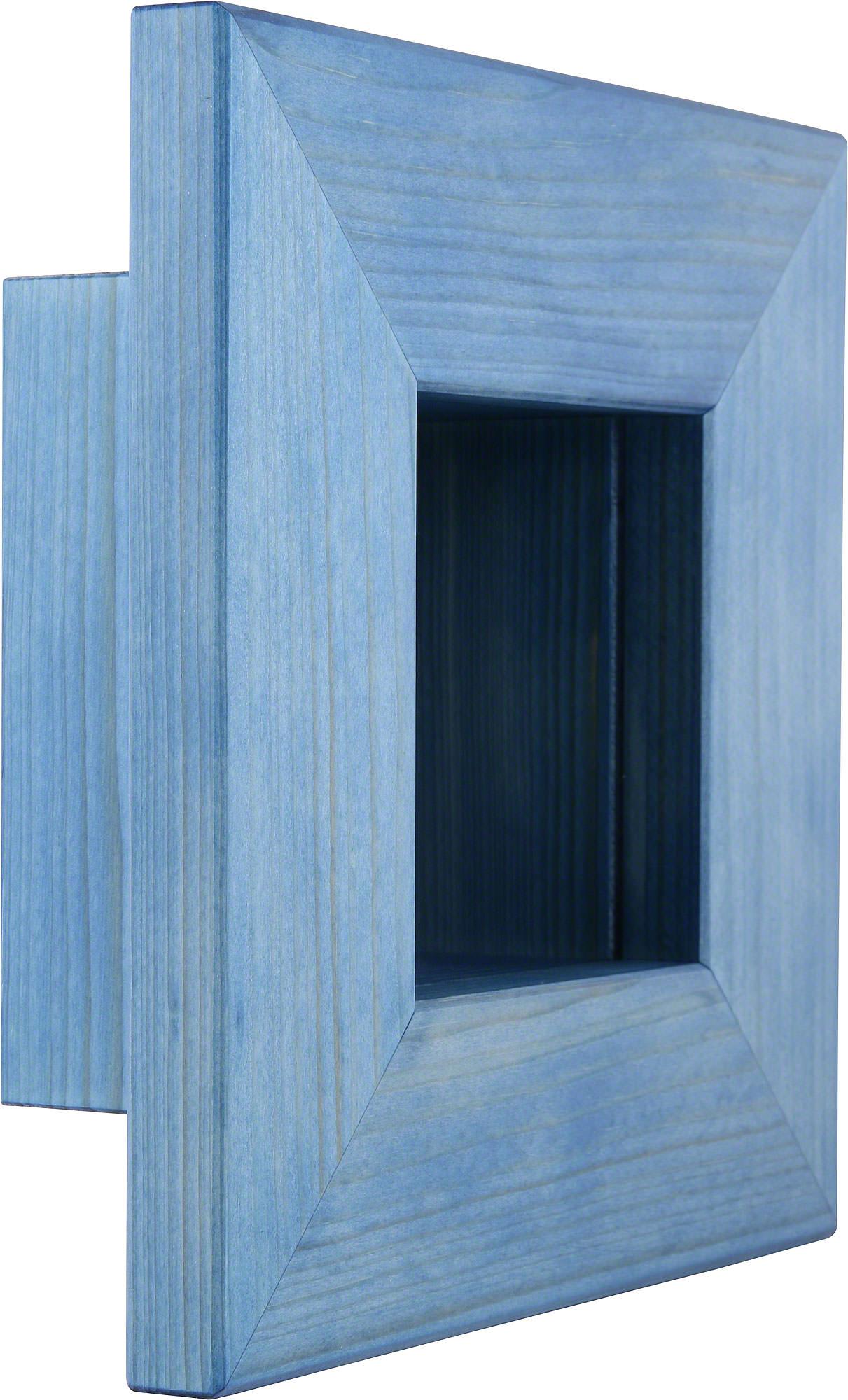 Wandrahmen blau (23×23×8 cm) von Björn Köhler Kunsthandwerk