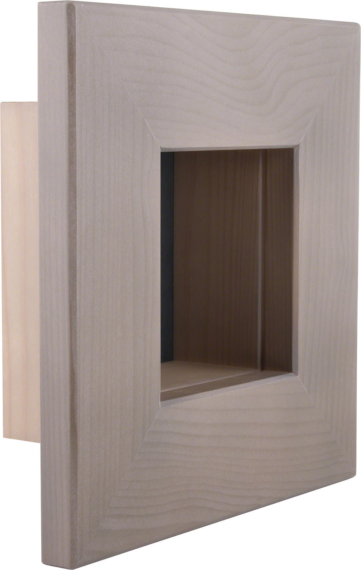 Wandrahmen grau (23×23×8 cm) von Björn Köhler Kunsthandwerk