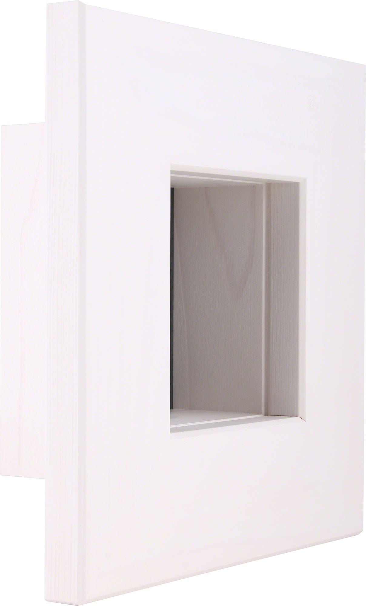 Wandrahmen weiß (23×23×8 cm) von Björn Köhler Kunsthandwerk