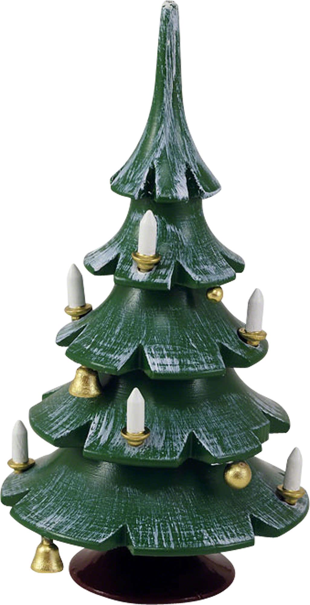 weihnachtsbaum mit gl ckchen farbig 12 cm von blank. Black Bedroom Furniture Sets. Home Design Ideas