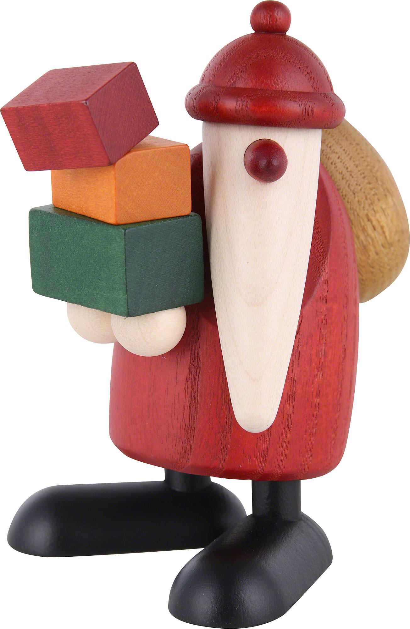 Weihnachtsmann Geschenke tragend (9 cm) von Björn Köhler Kunsthandwerk
