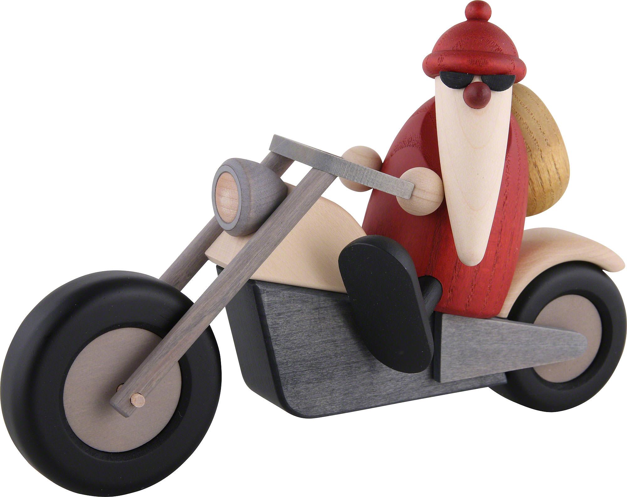 weihnachtsmann auf motorrad 11 cm von bj rn k hler. Black Bedroom Furniture Sets. Home Design Ideas