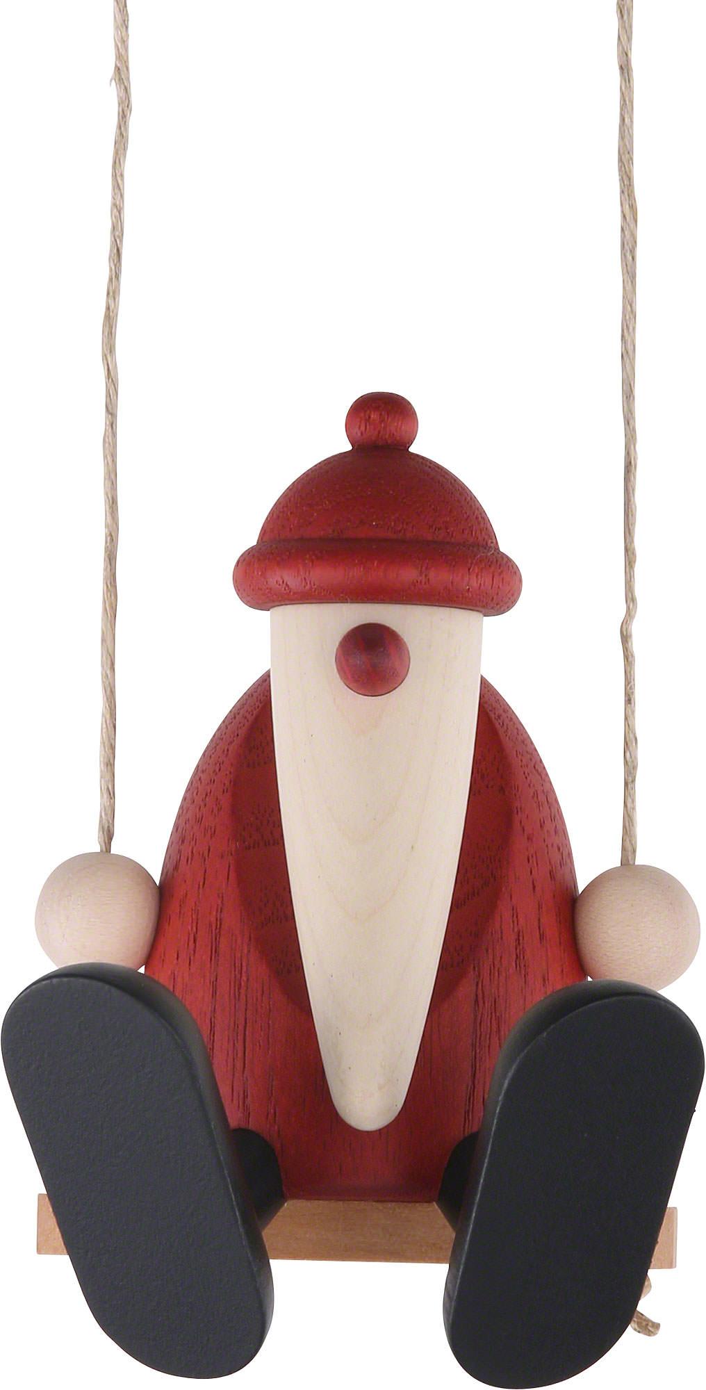 weihnachtsmann auf schaukel 9 cm von bj rn k hler. Black Bedroom Furniture Sets. Home Design Ideas