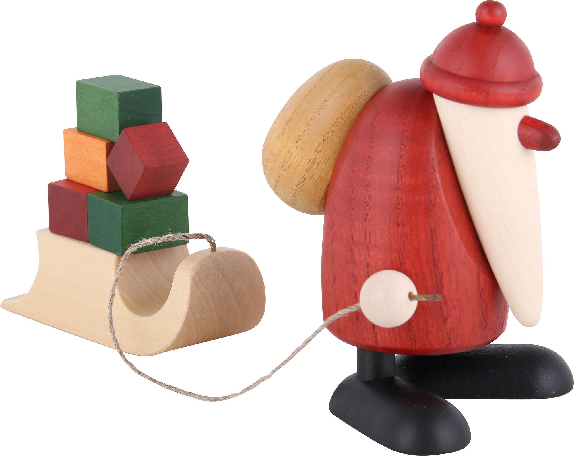 weihnachtsmann mit geschenkeschlitten 9 cm von bj rn. Black Bedroom Furniture Sets. Home Design Ideas