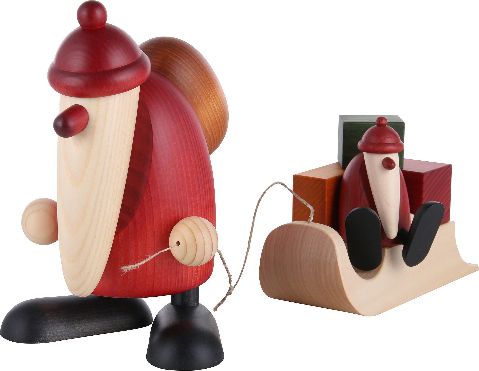 weihnachtsmann mit schlitten und kind 19 cm von bj rn. Black Bedroom Furniture Sets. Home Design Ideas