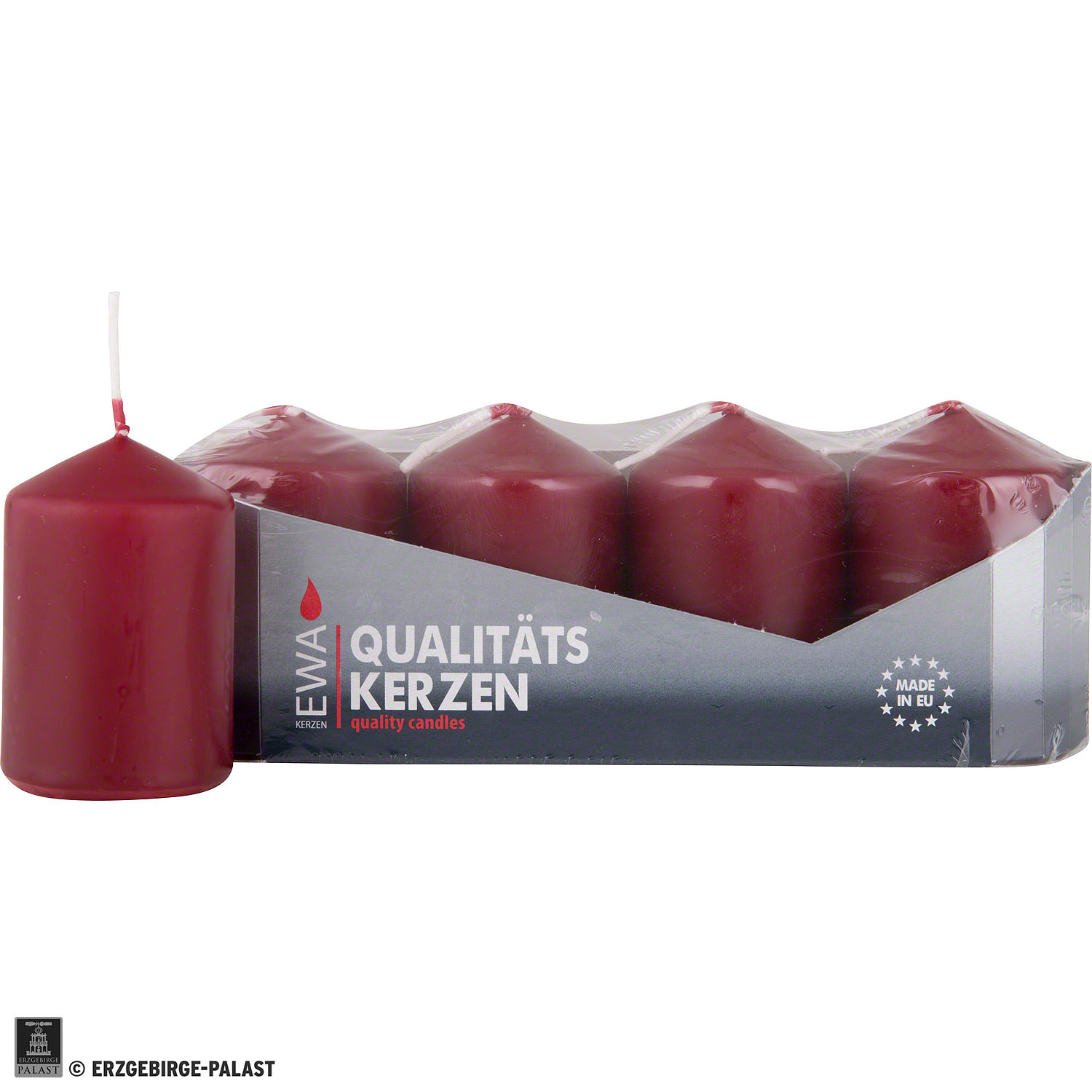 High Quality Pillar Candles Burgundy D3  5 Inch