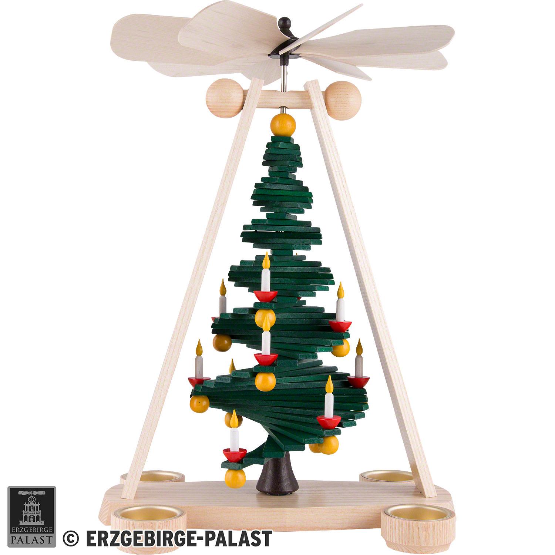 Weihnachtspyramide mit Stufenbaum