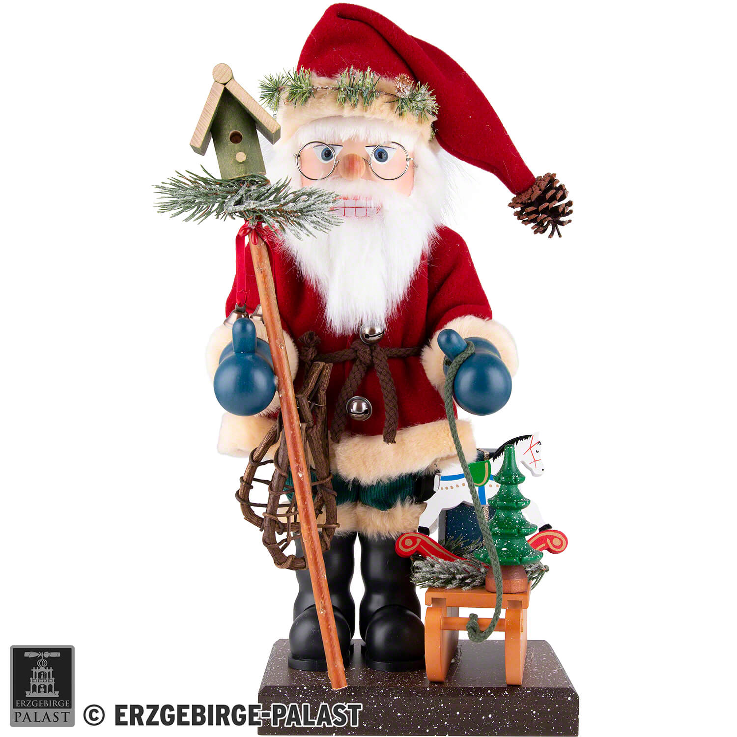 Nutcracker Santa Claus With Sled 47 Cm 18 5in By Christian Ulbricht