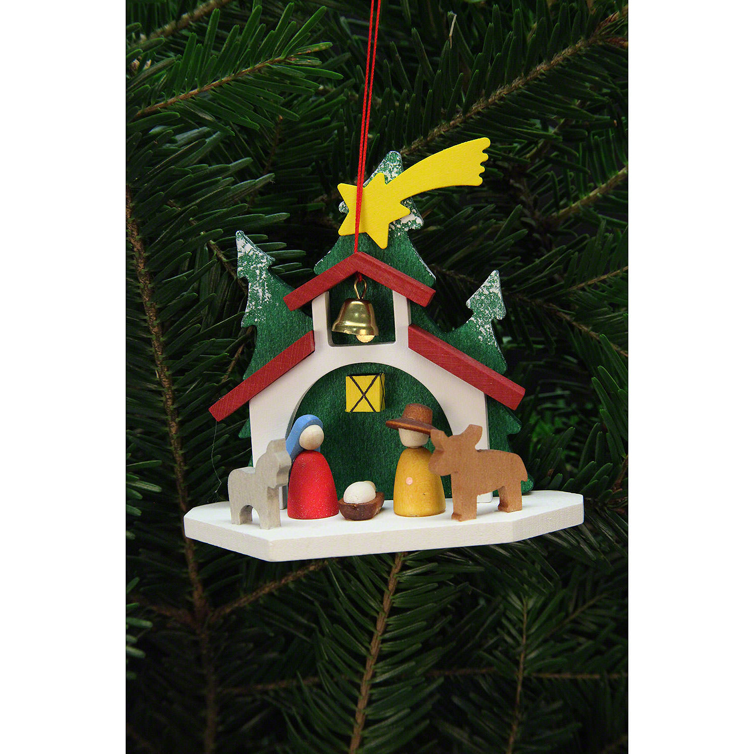 Tree Ornament Chapel With The Holy Family 9 2 8 8 Cm 4 3in By Christian Ulbricht