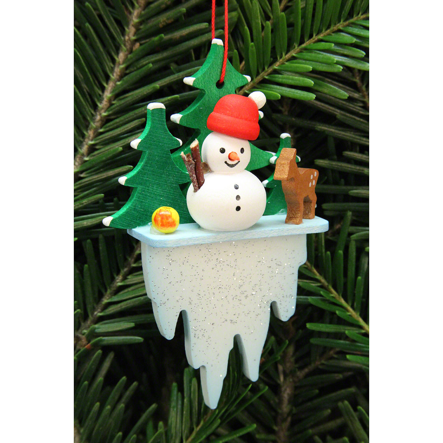 Tree Ornament Snowman On Icicle 5 5 8 8 Cm 2 2 3 4in By Christian Ulbricht