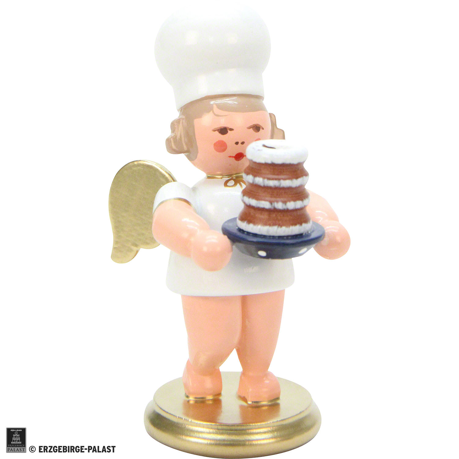 Baker Angel With Cake  Inch