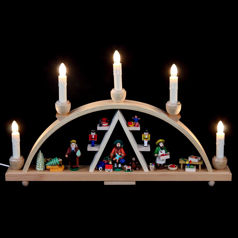 Schwibbogen Seiffener Weihnachtsmarkt 48 28 Cm Von Richard Glässer