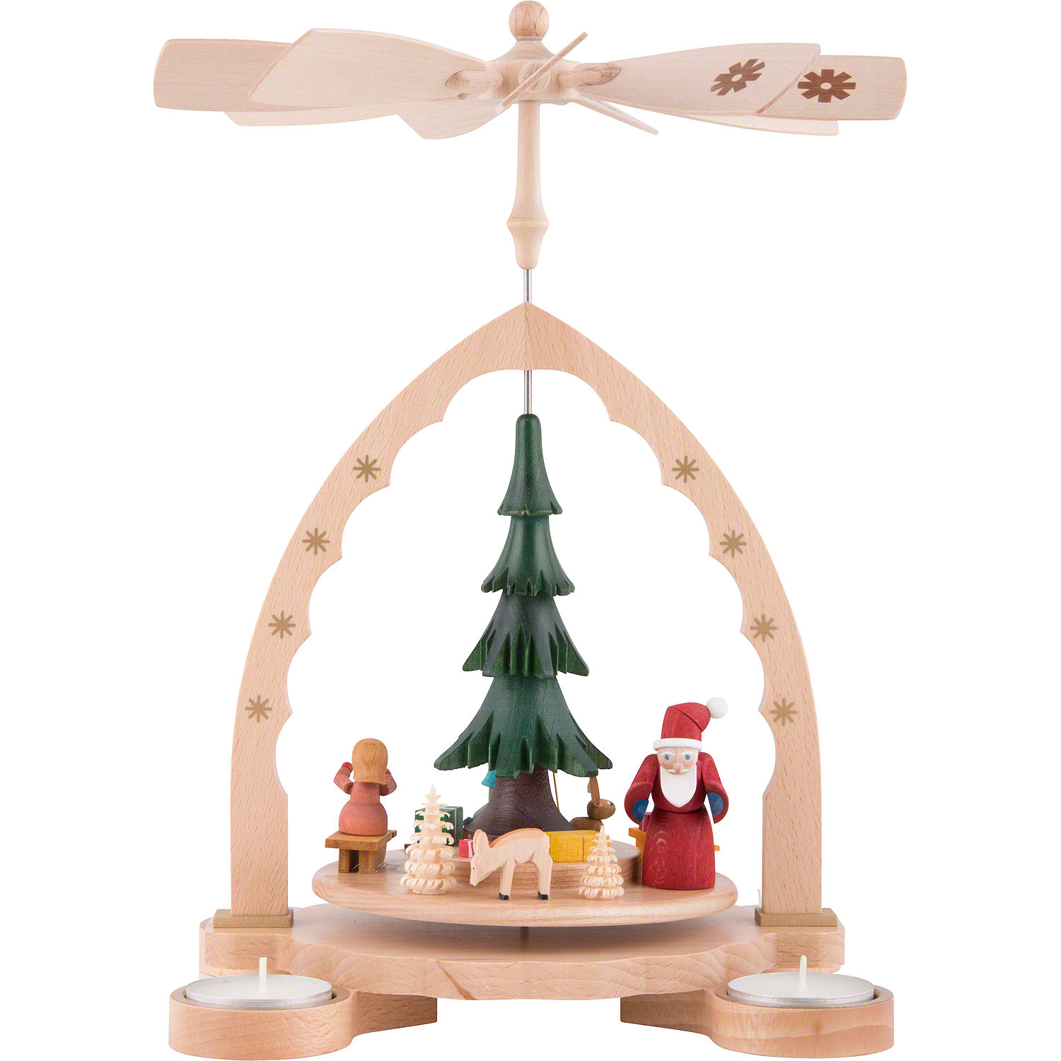 1-Tier Pyramid - Christmas Forest Colored (27 cm/10.7in) by Richard ...