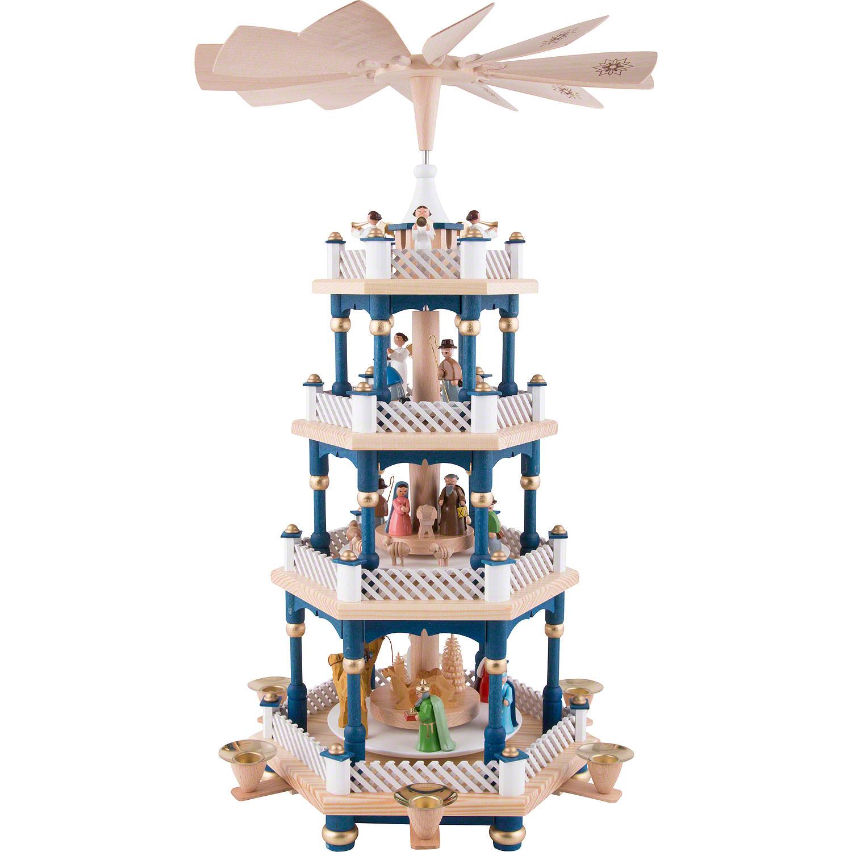 Weihnachtspyramide in Blau
