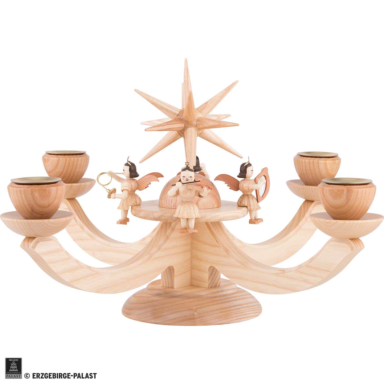 adventsleuchter mit 4 sitzenden engeln (38×38×20 cm) von blank