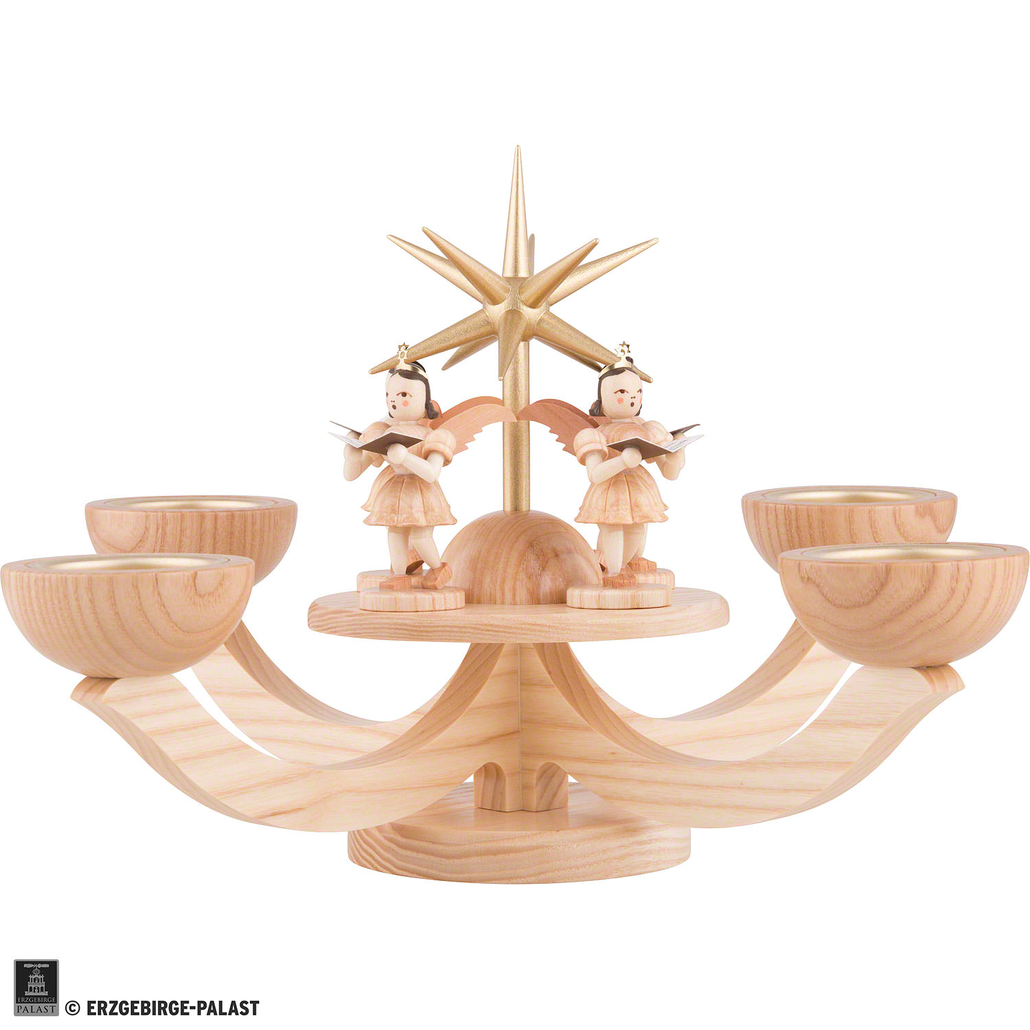 candle holder - four standing angels (38×38×20 cm/11×11×7.9in) by