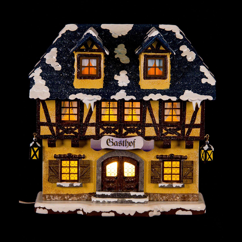 Winter Children Inn Illuminated 15 Cm6in By Hubrig Volkskunst