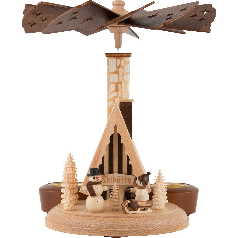 Weihnachtspyramide und Räucherhäuschen in einem