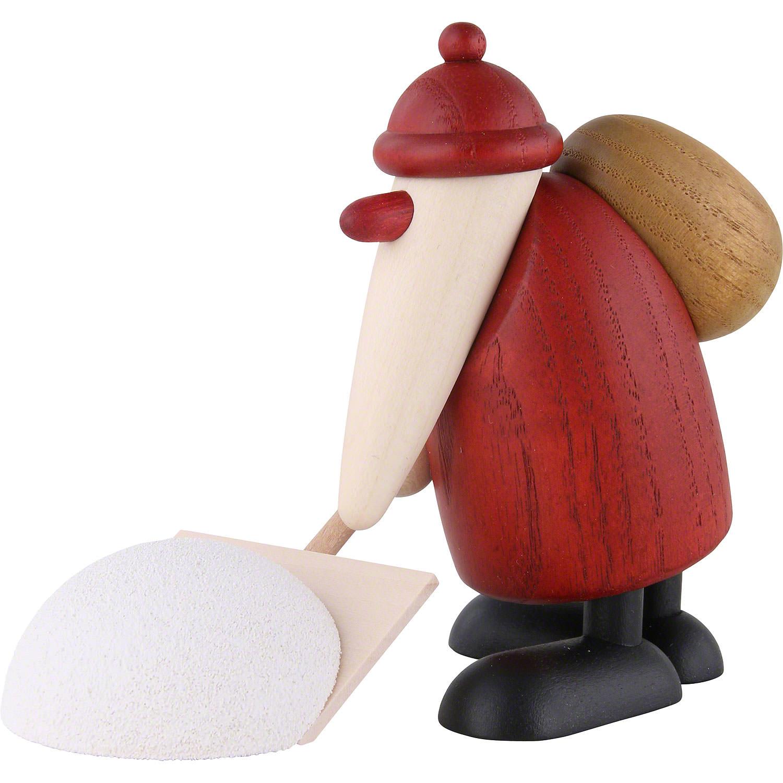 Weihnachtsmann mit Schneeschieber - 9 cm