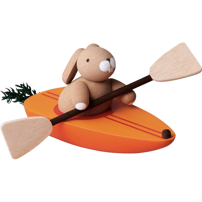 bunny in carrot canoe 3 5 cm 2inch 1 4in by günter reichel