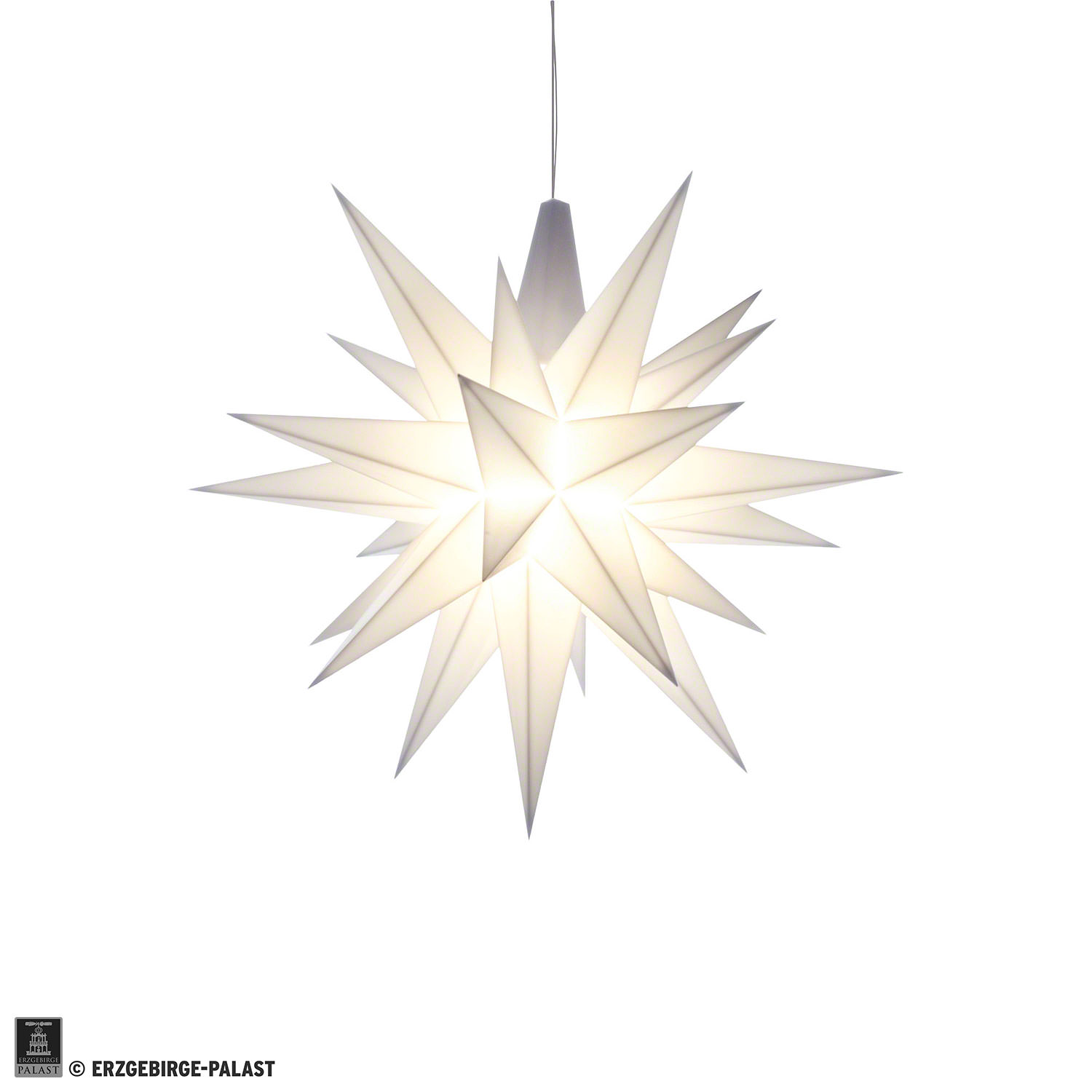 Herrnhuter Moravian Star A1e White Plastic 13 Cm51in By