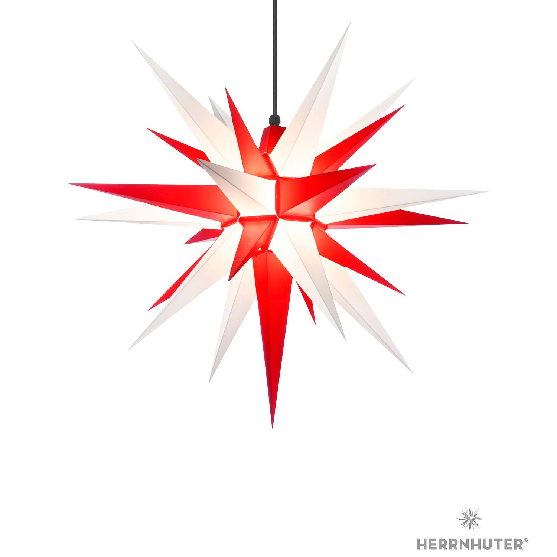 Herrnhuter Stern A7 Weiss Rot Kunststoff 68 Cm Von Herrnhuter Sterne