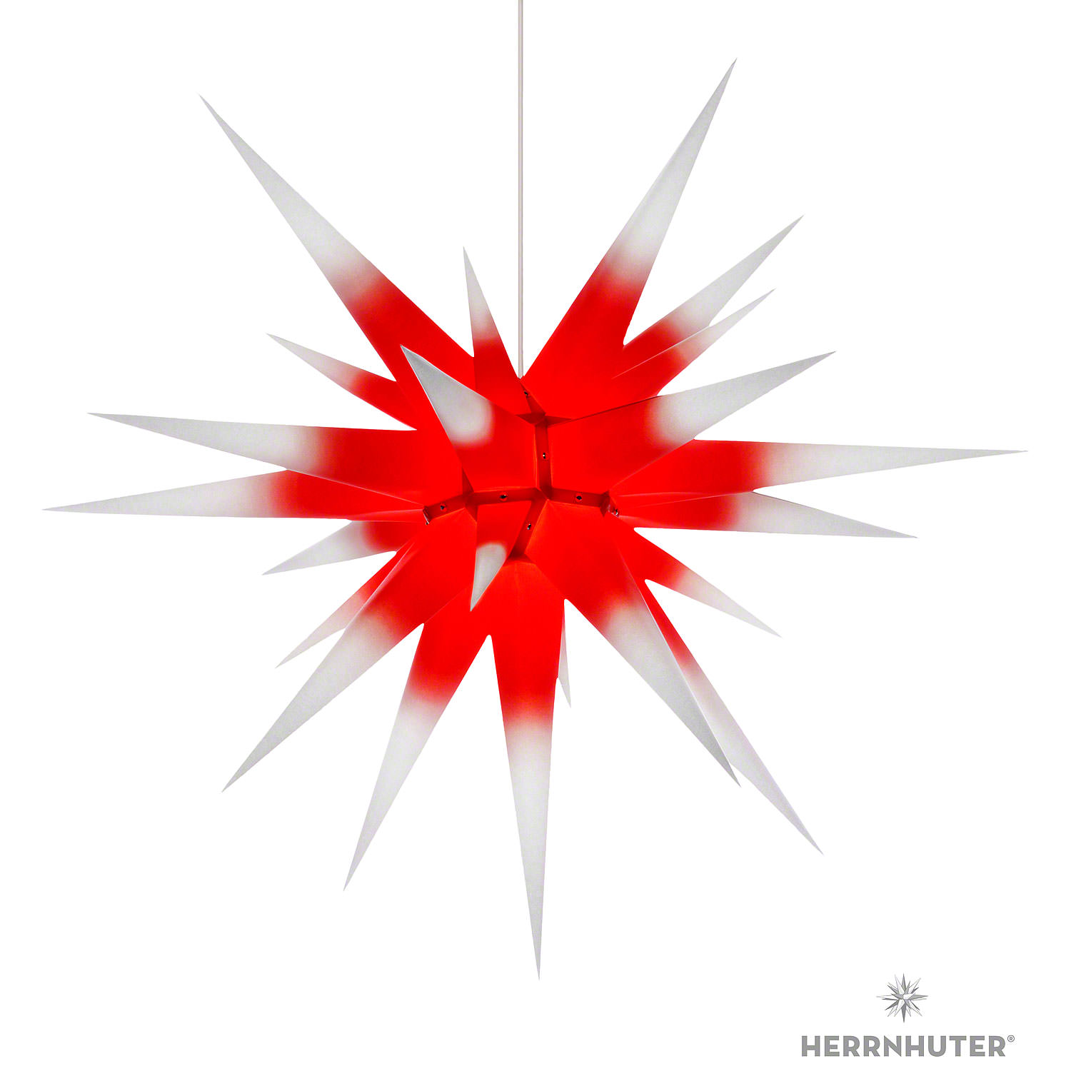Herrnhuter Moravian Star I8 White With Red Core Paper 80cm31in By