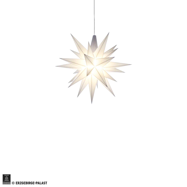 Herrnhuter Stern Beleuchtung | Herrnhuter Stern Miniaturstern Weiss Kunststoff 8 Cm Von Herrnhuter