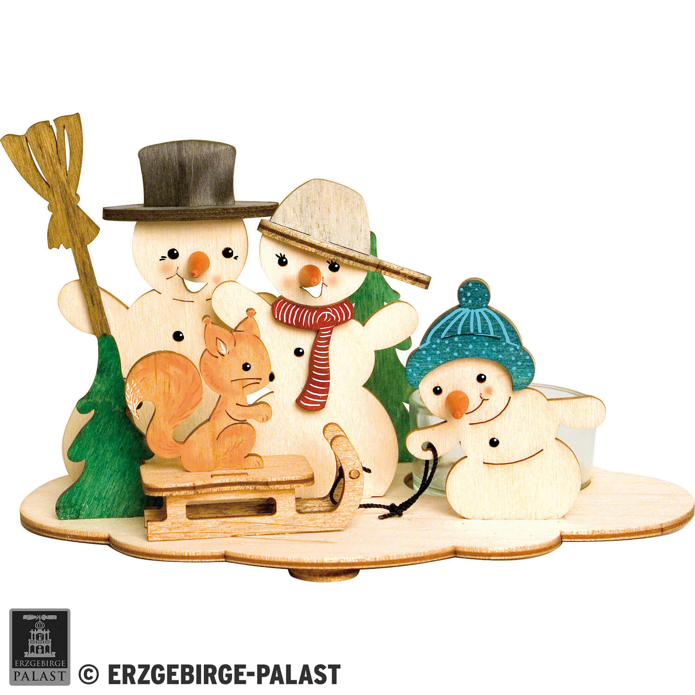 Handicraft Set Tea Light Holder Snowman 10 5 Cm 4 1in By