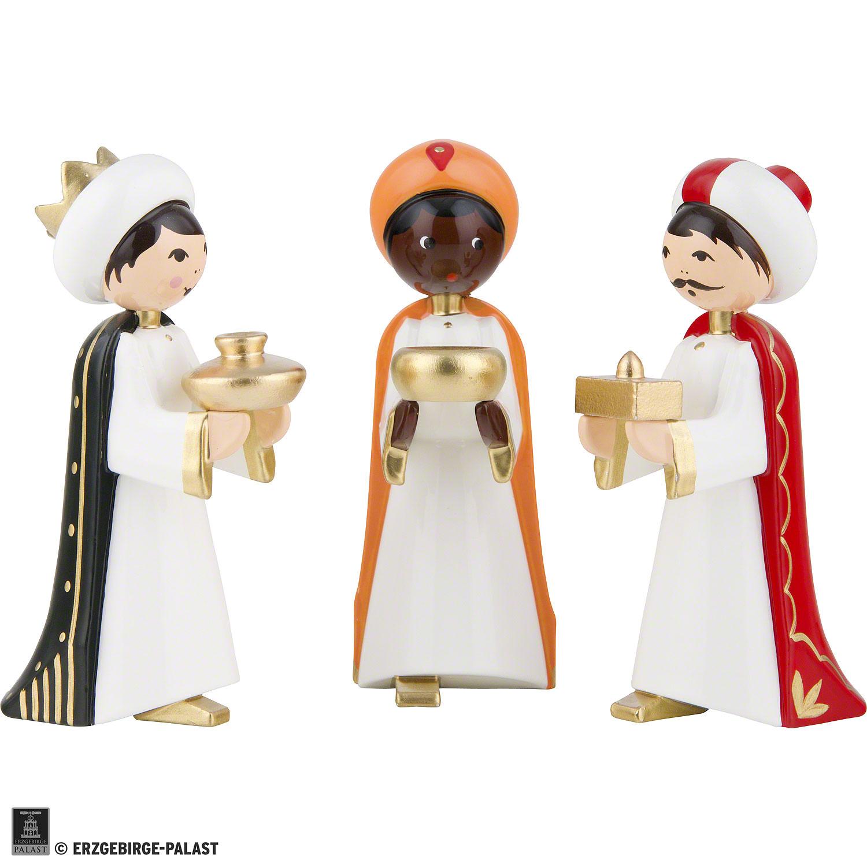 Ulmik Krippenfiguren bunt Die Heiligen Drei Könige