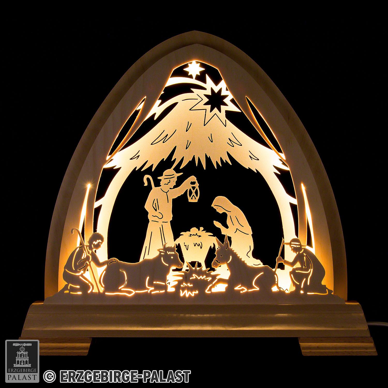 Gotischer Schwibbogen Stall zu Bethlehem