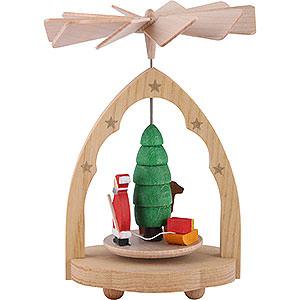 Christmas-Pyramids 1-tier Pyramids 1-Tier Mini Pyramid Santa Claus - 10 cm / 4 inch