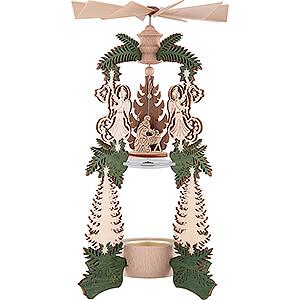 Christmas-Pyramids 1-tier Pyramids 1-Tier Pyramid - Angel Nativity - 26,5 cm / 10.4 inch
