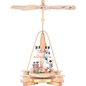 Christmas-Pyramids 1-tier Pyramids 1-Tier Pyramid - Angel Staircase - 25 cm / 9.8 inch