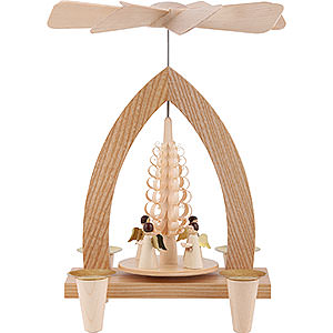 Christmas-Pyramids 1-tier Pyramids 1-Tier Pyramid - Angels - Natural - 26 cm / 10.2 inch