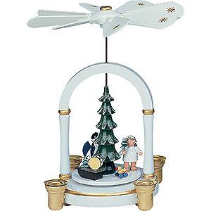 Christmas-Pyramids 1-tier Pyramids 1-Tier Pyramid - Angels under Tree - 23 cm / 9 inch