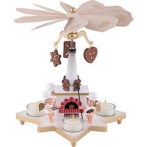 Christmas-Pyramids 1-tier Pyramids 1-Tier Pyramid - Baker Angel - 27 cm / 11 inch