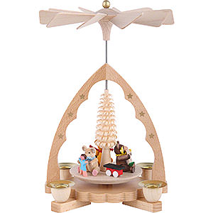Christmas-Pyramids 1-tier Pyramids 1-Tier Pyramid - Bear Children - 19 cm / 7 inch