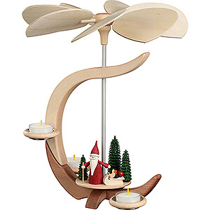 Christmas-Pyramids 1-tier Pyramids 1-Tier Pyramid - C-Shape Christmas Gnome with Sled - 30 cm / 11.8 inch
