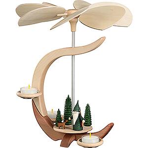 Christmas-Pyramids 1-tier Pyramids 1-Tier Pyramid - C-Shape Hunter Gnome - 30 cm / 11.8 inch