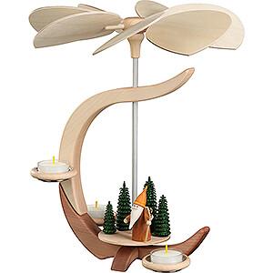 Christmas-Pyramids 1-tier Pyramids 1-Tier Pyramid - C-Shape Woodsman Gnome - 30 cm / 11.8 inch
