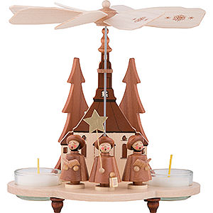 Christmas-Pyramids 1-tier Pyramids 1-Tier Pyramid - Carolers Natural - 19,5 cm / 7.5 inch