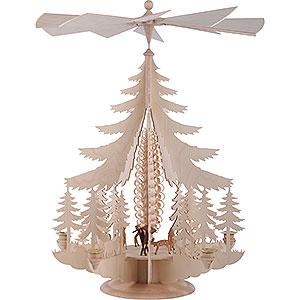 Christmas-Pyramids 1-tier Pyramids 1-Tier Pyramid - Carved Deer - 62x42 cm / 24x16 inch